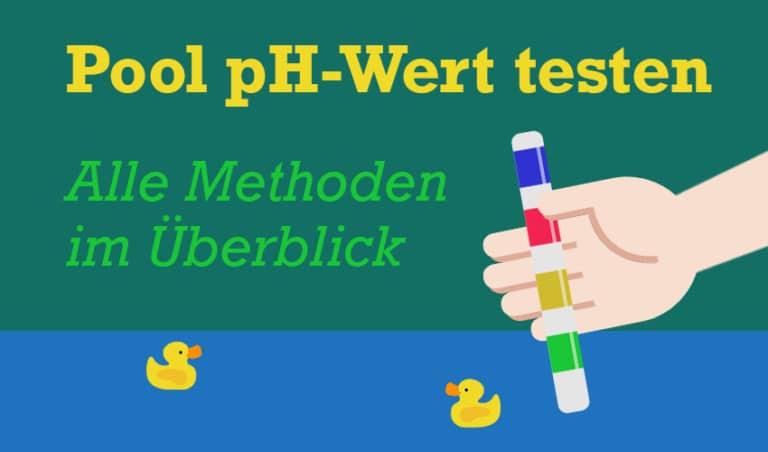 Abbildung: Pool pH-Wert testen