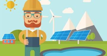 Mann plant Pool Solarheizung